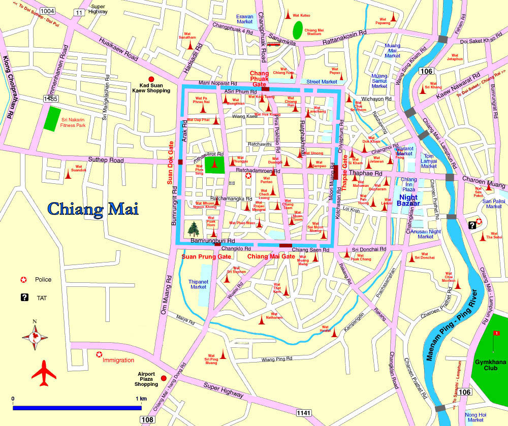 Chiang Mai Map - The Chiangmai Riverside on