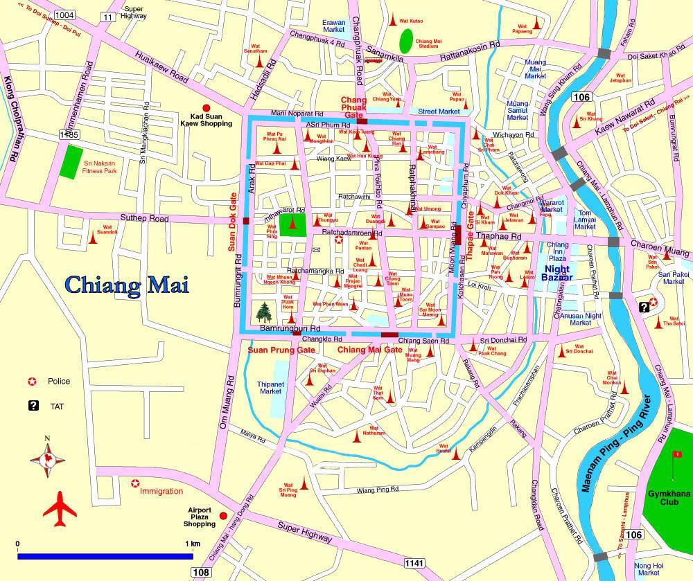 Chiang Mai Map Chiang Mai Map   The Chiangmai Riverside Chiang Mai Map