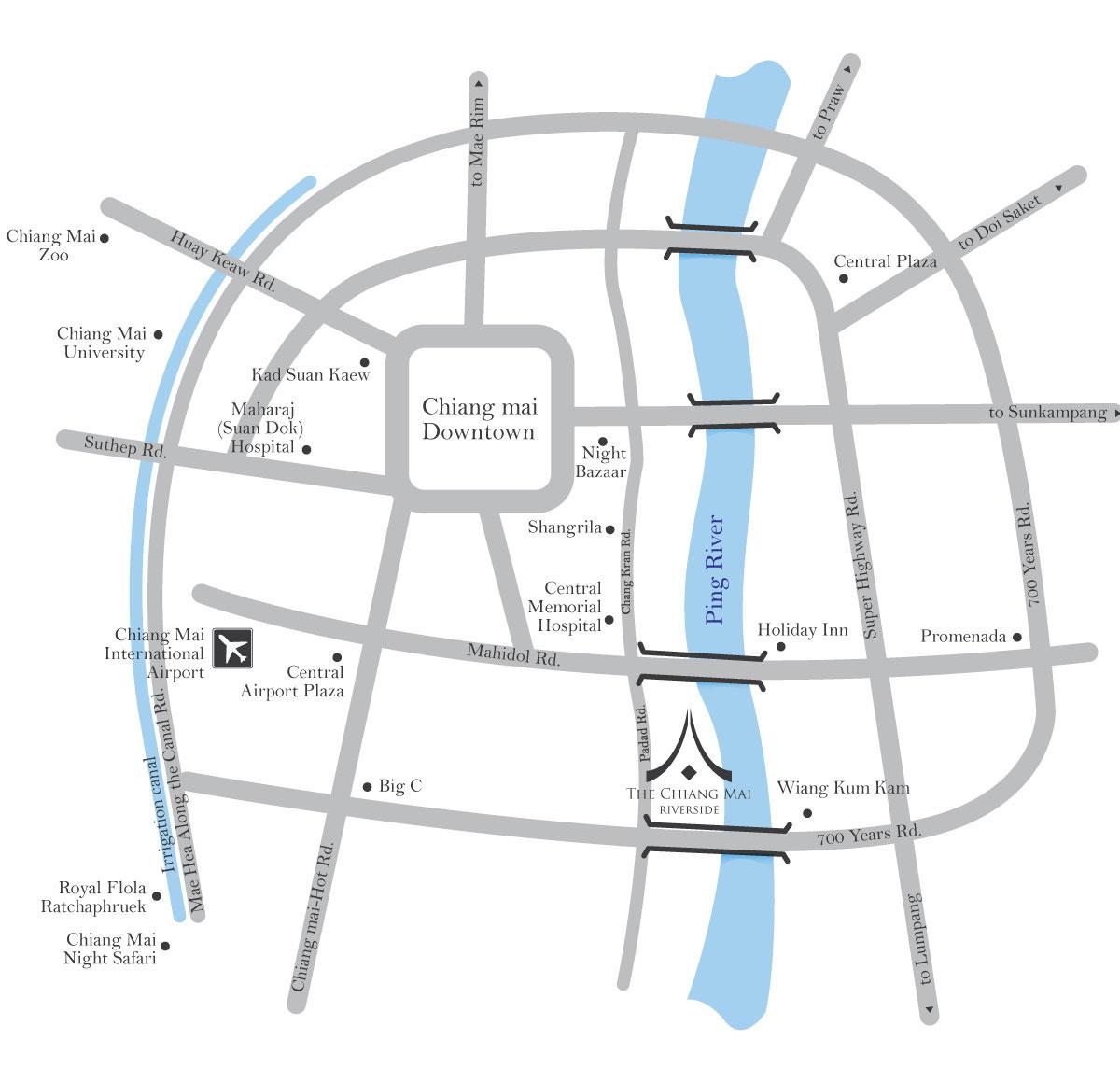 map-the-chiang-mai-riverside-hotel - The Chiangmai Riverside on